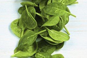 Raw Spinach Leafs