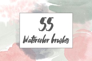 55 Watercolor Brushes