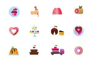 Cakes icon set