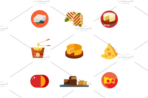 Cheese Icon Set