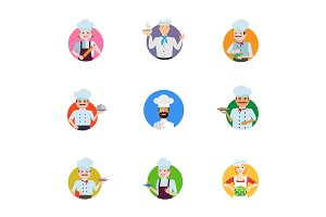 Chef icon set