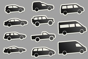 14 Automobile Autobodys Car Sticker