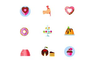 Confectionery icon set