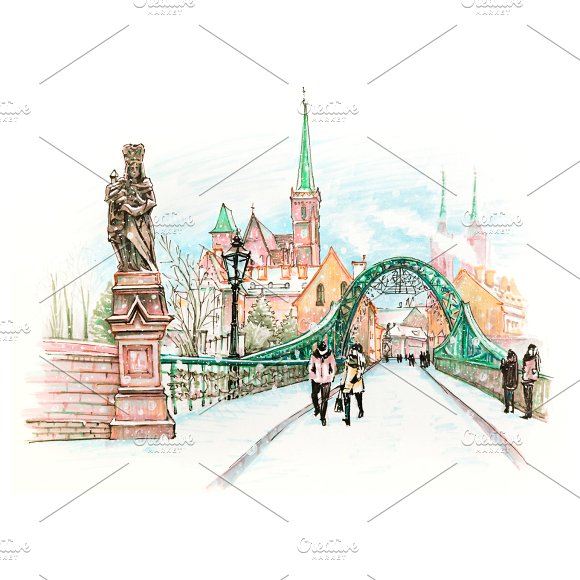 Cathedral Island In Wroclaw Poland