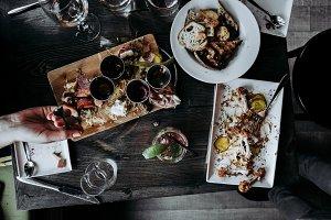 Overhead Dinner Table w/ Charcuterie