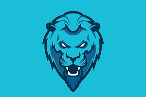 Lion head logotype