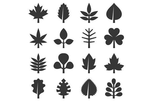 Leaf icons set in Icons