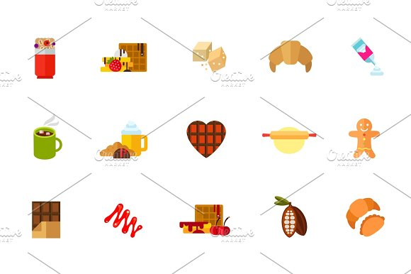Sweet Snack Icon Set
