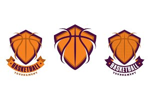 Set of basketball logotypes
