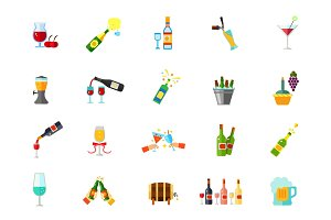 Winehouse icon set