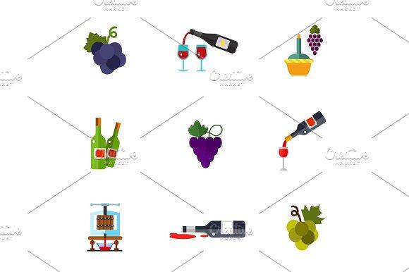Winery Icon Set