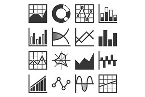 Analytics and Finance Icon Set