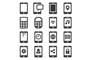 Phone and Communication Icon Set