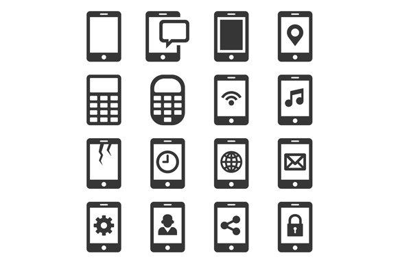 Phone And Communication Icon Set