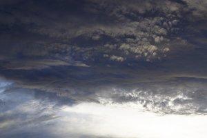 Thunderstorm dangerous clouds