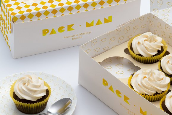 Six Cupcake Box Mockup 05-Graphicriver中文最全的素材分享平台