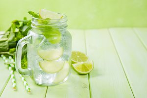 Mojito in glass jar