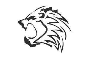 Lion logo in vector