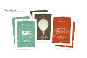 Gettin' Hitched Printable Cards