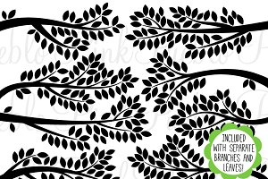 Branch Silhouettes Clip Art & Vector