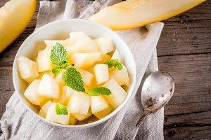 Fresh summer melon salad