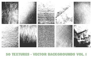 50 Vector Texture Backgrounds Vol. 1