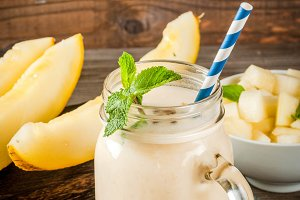 Fresh summer melon smoothie