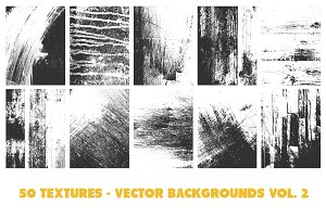50 Vector Texture Backgrounds Vol. 2