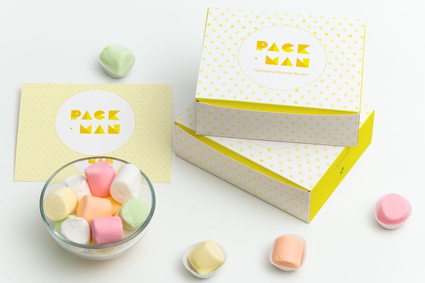 Sweet Box Mockup 05 Psd