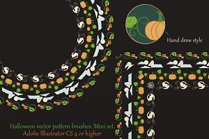 Halloween vector pattern brushes