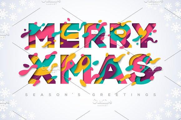 Merry Xmas Typography
