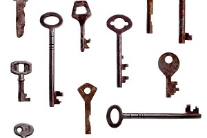 Set of antique keys.