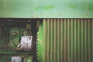 Closeup of Old Tractor