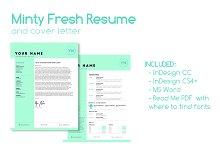 Minty Fresh Resume