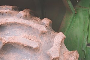 Closeup of Old Tractor 1