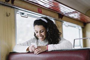 attractive girl in the train