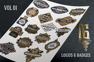 16 Vintage logos & badges
