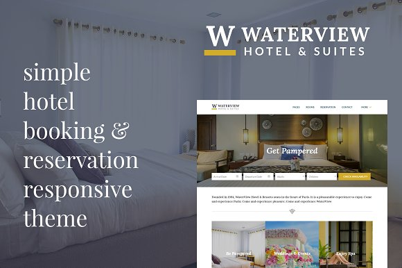 WaterView Hotel Theme