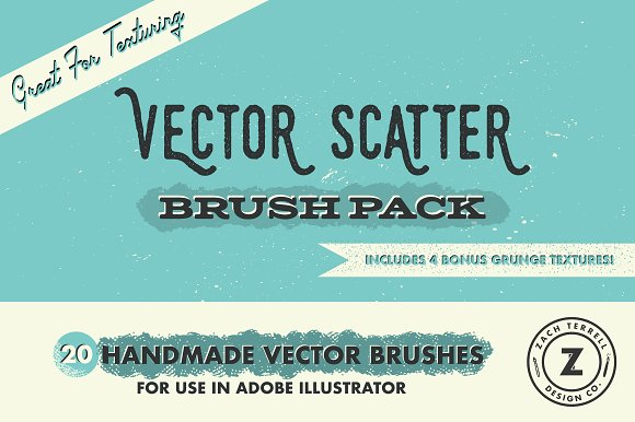 Vector Scatter Brush Pack-Graphicriver中文最全的素材分享平台