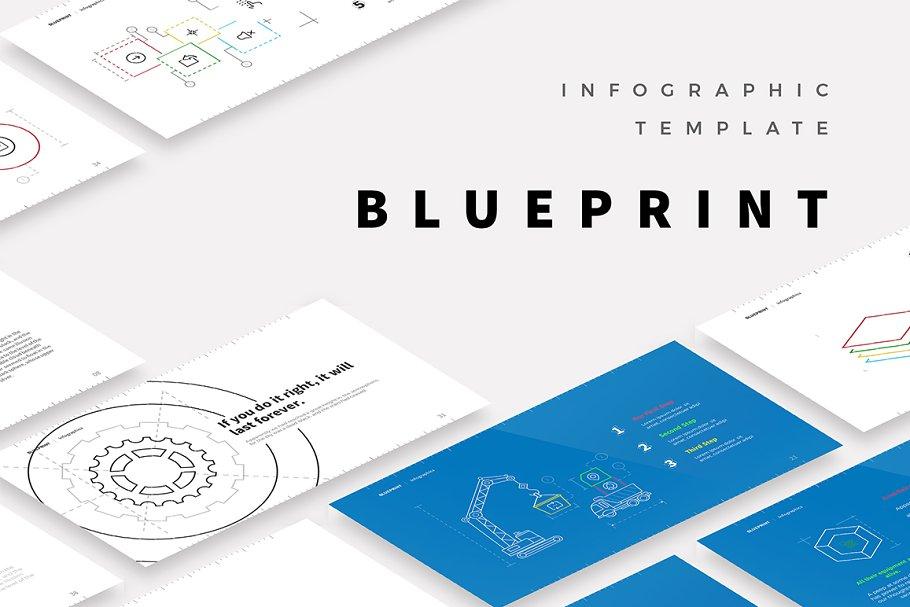 Blueprint Template Powerpoint Templates Creative Market