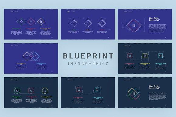 Blueprint template presentation templates creative market malvernweather Image collections