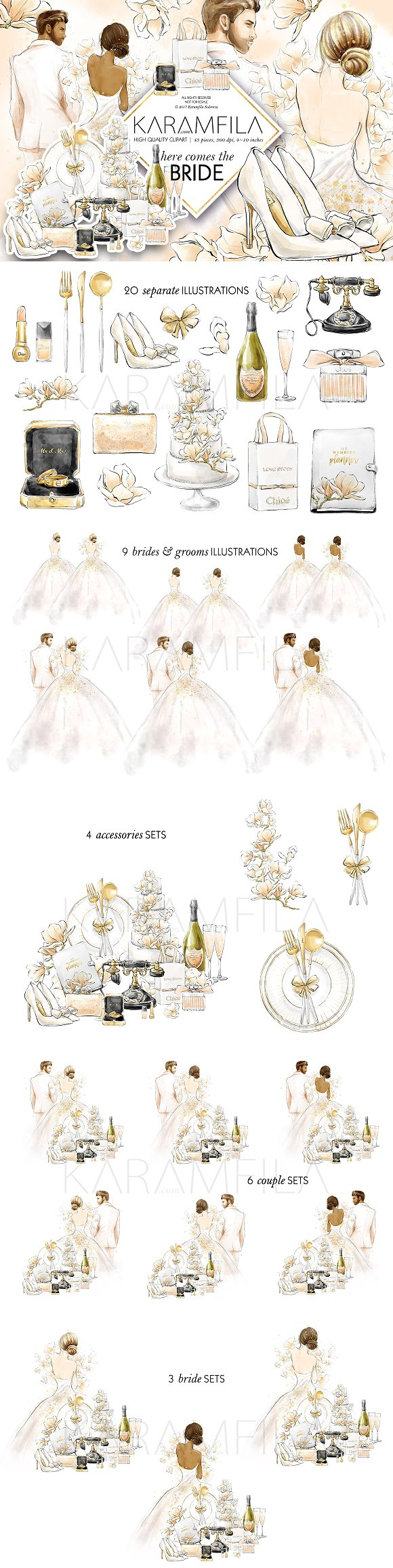 Wedding Clipart Bride Groom