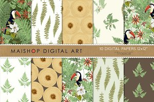 Digital Papers - Tropical