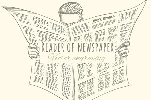 Reader of newspaper