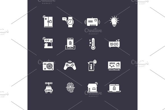 Smart Home White Icons Collection