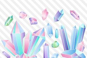 Crystal Vector Clipart