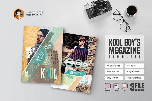Kool Boy's Magazine Templates