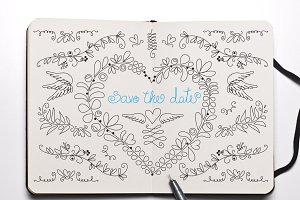 Save the date doodle pack [40% off]