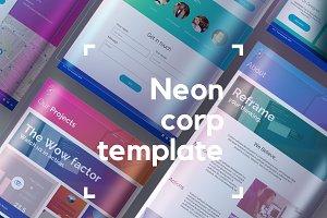 Neon website UI kit