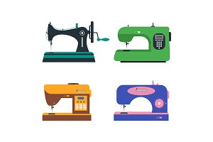 Color Sewing Machine Set.